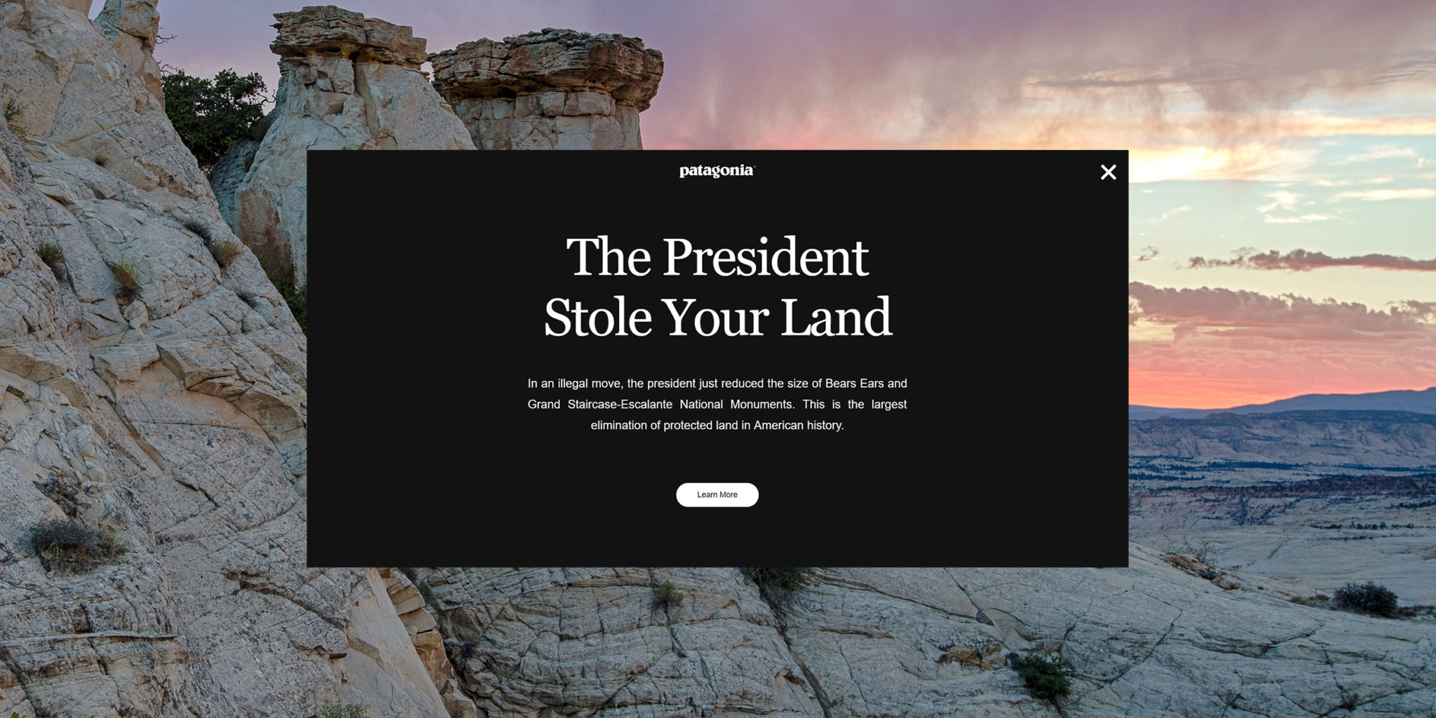 The president Stole your Land PR