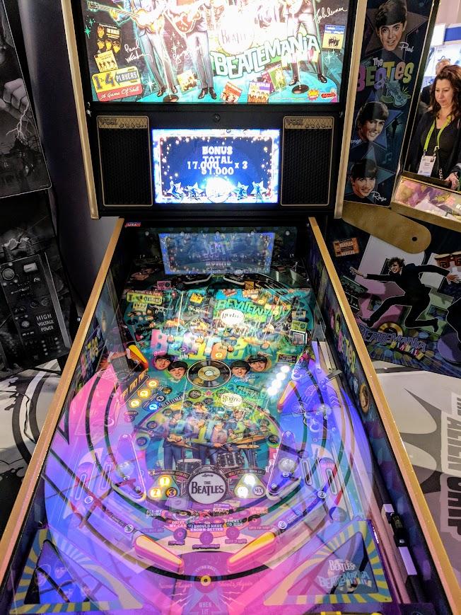 CES 2019 Beatles Pinball