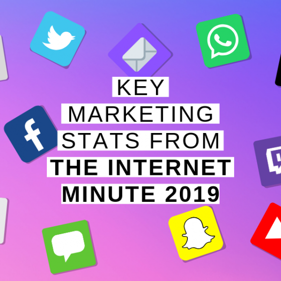 Key marketing stats from the internet minute 2019